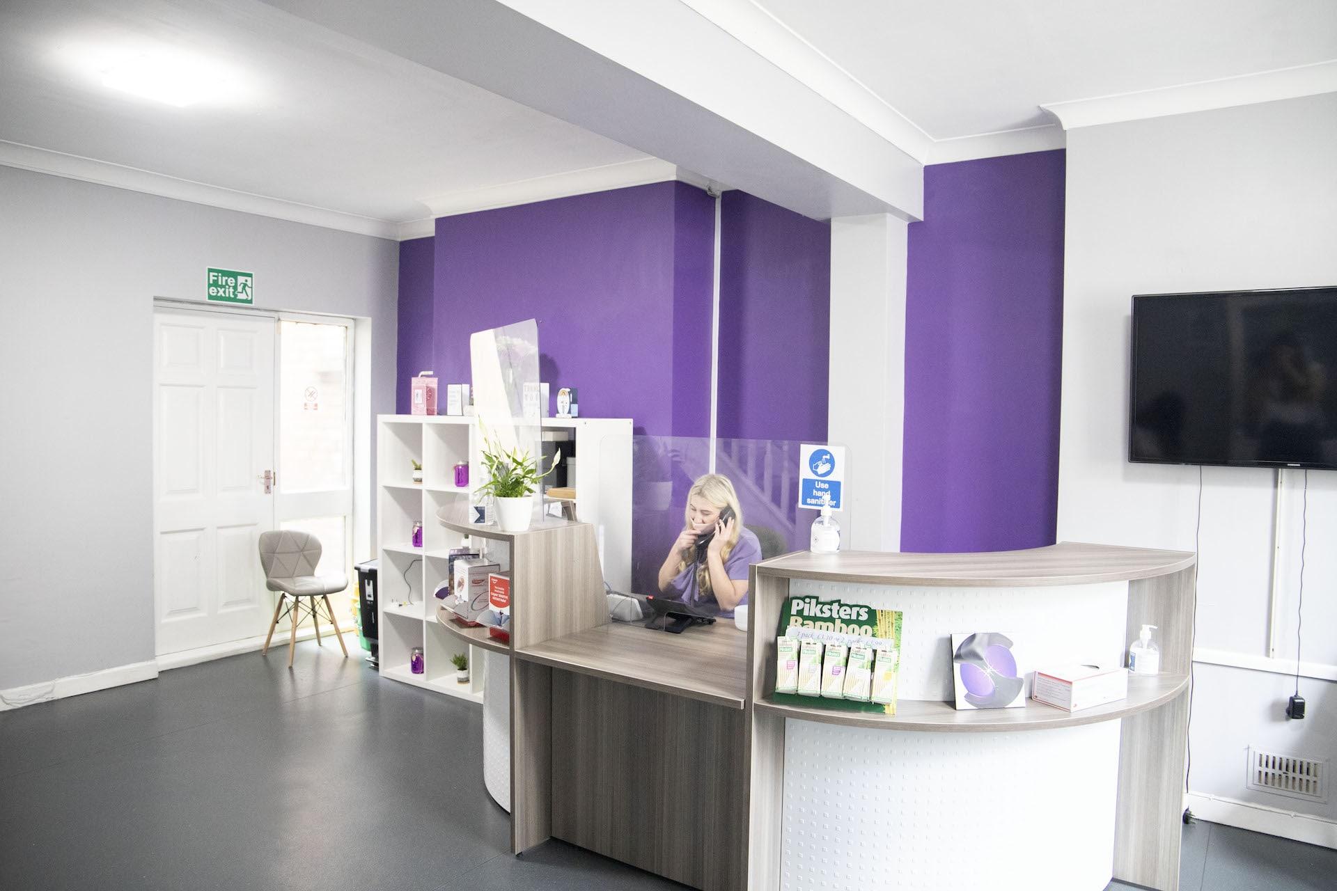 Sparkle Dental Centre Reception Area